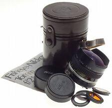 AI-S NIKON FISHEYE-NIKKOR 16mm 1:2.8 SLR FILM/DIGITAL CAMERA LENS FILTERS CAPS
