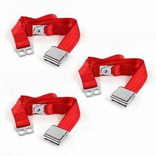 Frazer Nash 1948 1967 Airplane 2 Pt. Red Lap Bench Seat Belt Kit 3 Belts hot