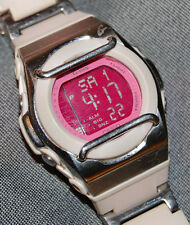 RARE! Casio Baby-G Sweet Poison Women's Watch MSG-160C Pink Dial NEW BATTERY!
