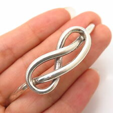 925 Sterling Silver Love Knot Design Bracelet Central Part