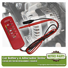 BATTERIA Auto & TESTER ALTERNATORE PER FIAT X 1/9. 12v DC tensione verifica
