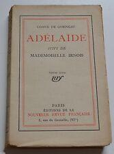 ADELAIDE PAR COMTE DE GOBINEAU ED NOUVELLE REVUE1924 BE