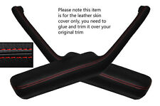 RED STITCH 2X DOOR HANDLE ARMREST SKIN COVERS FITS PONTIAC FIREBIRD 90-92