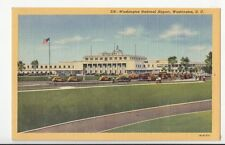 B77084 washington national airport   airport aviation scan front/back image