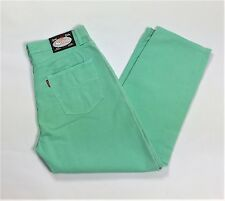 Skelton missy pantalone donna verde acqua usati W36 50 slim gamba dritta T1955