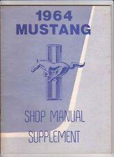 1964 FORD FALCON & MERCURY COMET US FACTORY MANUAL & MUSTANG SUPPLEMENT