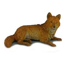 AAA 52001 Brown Wolf Lying Wild Animal Toy Model Figurine Replica - NIP