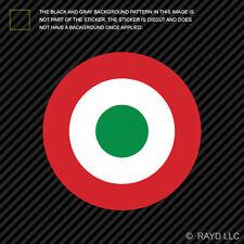 "4"" Italian Air Force Roundel Sticker Die Cut Decal AM Italy ITA IT"