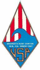 George's Surf Center Calif. Vintage Looking 1960's Surfing Decal Sticker