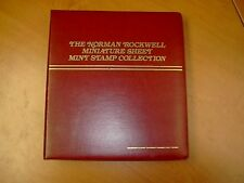 The Norman Rockwell Miniature Sheet Mint Stamp Collection, 2 Volumes, 60 Sheets