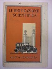 MANUALI AUTO LA LUBRIFICAZIONE SCIENTIFICA DELL'AUTOMOBILE 1924 GENOVA