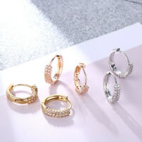 Fashion Round Small Hoop Earrings Women Cubic Zircon Stone Wedding Jewelry Hot.