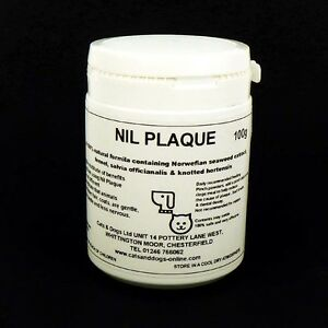 100g NIL PLAQUE ORAL TARTAR TREATMENT Dogs Cats Pets Bad Breath 100% Natural
