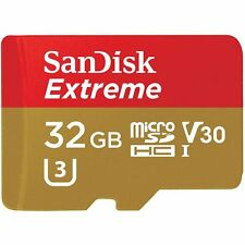 SANDISK 32GB 32G EXTREME CLASS 10 UHS-I U3 V30 90MB/S MICRO SDHC MEMORY CARD