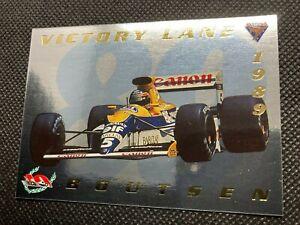 1994 Futera Formula 1 Thierry Boutsen /2500 Victory Lane Insert #VL5 - F1