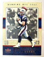 Tom Brady 2002 Fleer Genuine #43 2nd Year Card Superbowl MVP GOAT