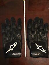 Alpinestars Gloves - Motorcycle Street Riding Mens Black Large Textile Padded