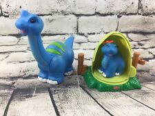 Fisher Price Little People Lil' Dino Dinosaur Brontosaurus Baby Egg Set Htf Rare