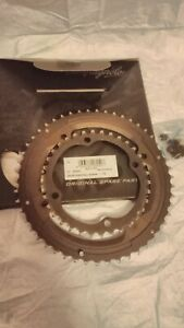 Campagnolo Record/Super Record 11 speed set of chainrings 50t & 34t, 4 arm