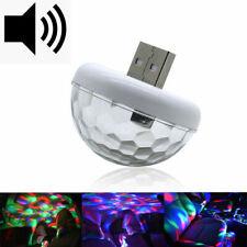 Car USB Interior Atmosphere Neon Light Mini Colorful Music LED Decor Lamp