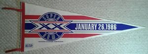 Super Bowl XX New England Patriots Chicago Bears Full Size NFL football Pennant