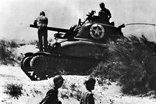New 5x7 World War II Photo: M4 Sherman Tank on Red Beach #2, Sicily - 1943