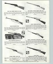 1957 PAPER AD Daisy Red Ryder Double Barrel Cork Gun Hubley Cap Rifle