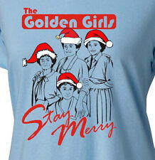 THE GOLDEN GIRLS STAY MERRY  - Womens T-Shirt -christmas holiday betty white bea