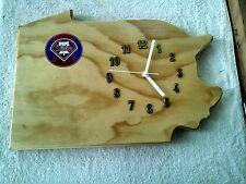 Philadelphia Phillies, Pennsylvania wood quartz wall clock team / logo