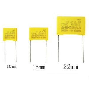 20pcs 1UF 0.68 0.33UF 0.22UF 0.1UF 0.47UF X2 275V Polypropylene Safety Capacitor