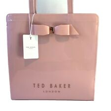 Ted Baker Light Pink Bow Large Shopper Icon Bag PVC Plastic