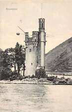 Mauseturm Germany Light House Fortress Waterfront Antique Postcard K22291