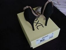Next women black/nude high heels shoes Size 4. (37) Nice Condition.