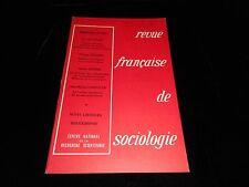 Revue française de sociologie january/march 1973