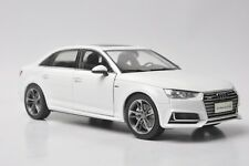 Audi A4L 2017 car model in scale 1:18 white