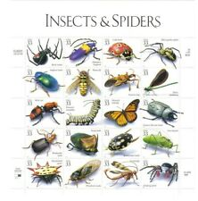 1999 33c Insects & Spiders, Full Sheet of 20 Stamps, MNH