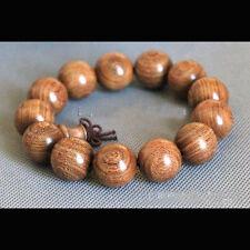 Buddhist Gold Silk wood Prayer 15mm  Beads Mala Bless Bracelet Buy 2 get 1