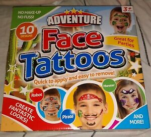 Kids Face Tattoos 10 Designs Fantasy Adventure Great For Parties Age 3+ Years