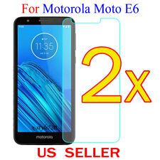 2x Clear LCD Screen Protector Guard Cover Film For Motorola Moto E6