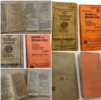 Vintage Antique 1934 & 1947 TREES Lumber Grading Rules Unusual Lot 2  SKU 030-55