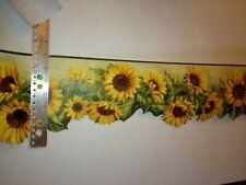 Laser Cut Sunflowers Prepasted Wallpaper Border # Kbe12512B