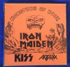KISS 3 Box Lp  Monsters Of Rock Iron Maiden Anthrax Lp 33 Rare Vinily Bootleg