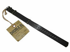 RRL Ralph Lauren Black Double RL Leather Polo Watch Strap Cuff Bracelet