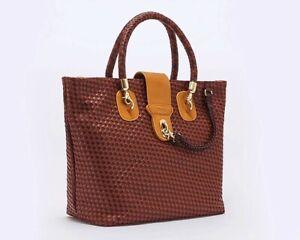 Rattan Style Designer Tote Bag. Brand New