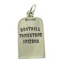 925 Sterling Silver Boothill Tombstone Charm Made in USA