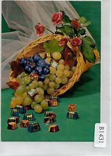 B1431pac Art Grapes Chocolates Roses Kruger postcard
