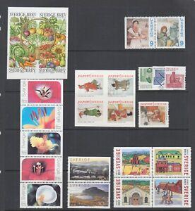 Sweden Sc 2468, 2471-2473, 2475-2479, 2481, MNH. 2003-04 issues, 7 complete sets