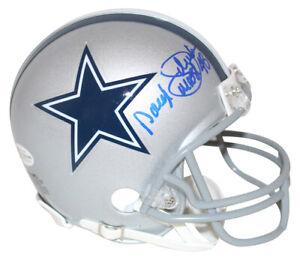 Daryl Moose Johnston Autographed Dallas Cowboys Mini Helmet BAS 31326
