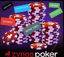 Poker chips-zynga 100b.... keine gesperrt (no ban) mit Grantie