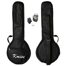 Kmise 23 Inch Banjo Ukulele Banjolele Bag Case Concert  Black With Digital Tuner